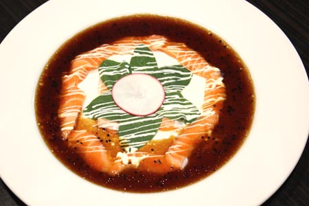 Salmon Carpaccio $15